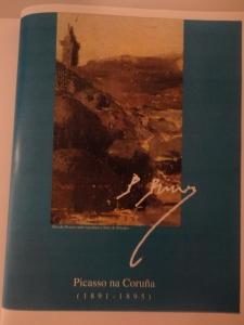 Portada folleto editado por la Asociación Picasso y Diputación de A Coruña