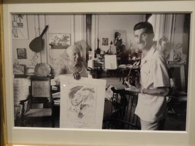 Pablo Picasso y Edward Quinn