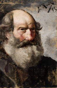 Cabeza de hombre barbudo (Picasso, 1895) Foto La Voz de Galicia