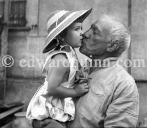 Picasso con su hija, Paloma. Fotografía de Edward Quinn