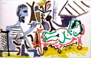 La peintre et son modèle (Picasso, 1963) Colección Abanca