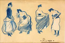 Quatre femmes (Picasso, 1901) Colección Abanca