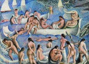 Bañistas de Els Llaner.1923. Dalí