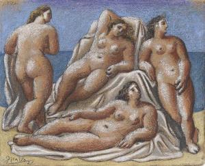 Grupo de desnudos femeninos. 1921. Picasso