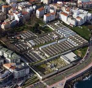 Vista aérea del Cementerio de San Amaro