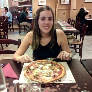 Comer una buena pizza