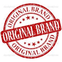 Original brand grunge red round stamp